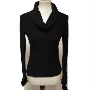 Anthropologie Odille Black Cowl Neck Knit Top S An